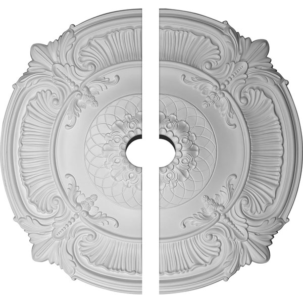 "39 1/2""OD x 3 3/4""ID x 2 1/2""P Attica Ceiling Medallion, Two Piece (Fits Canopies up to 3 3/4"")"