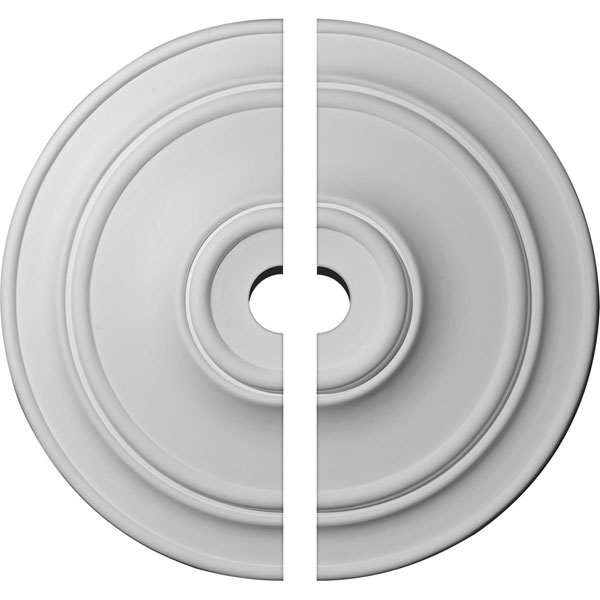 "40 1/4""OD x 5""ID x 3 1/8""P Small Classic Ceiling Medallion, Two Piece (Fits Canopies up to 10"")"