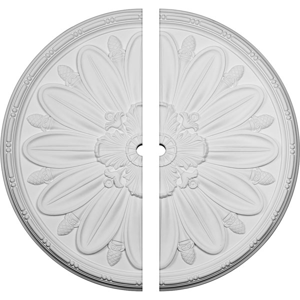 "40""OD x 2""ID x 1 7/8""P Delfina Ceiling Medallion, Two Piece (Fits Canopies up to 2"")"
