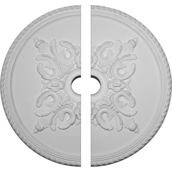 "40 5/8""OD x 5 1/2""ID x 1 3/4""P Milton Ceiling Medallion, Two Piece (Fits Canopies up to 7 7/8"")"