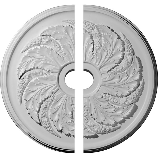 "42 1/8""OD x 6""ID x 1 7/8""P Sellek Ceiling Medallion, Two Piece (Fits Canopies up to 9"")"