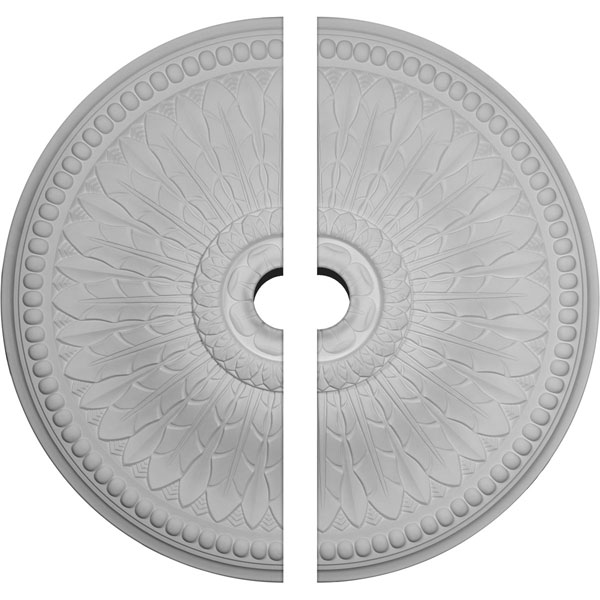 "42 1/2""OD x 4 1/2""ID x 4 5/8""P Springtime Ceiling Medallion, Two Piece (Fits Canopies up to 9 3/8"")"