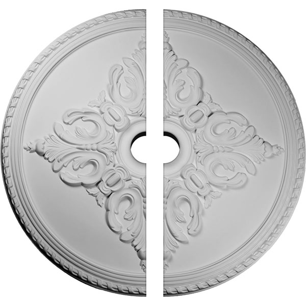 "54 1/4""OD x 6""ID x 2 7/8""P Milton Ceiling Medallion, Two Piece (Fits Canopies up to 10 1/2"")"