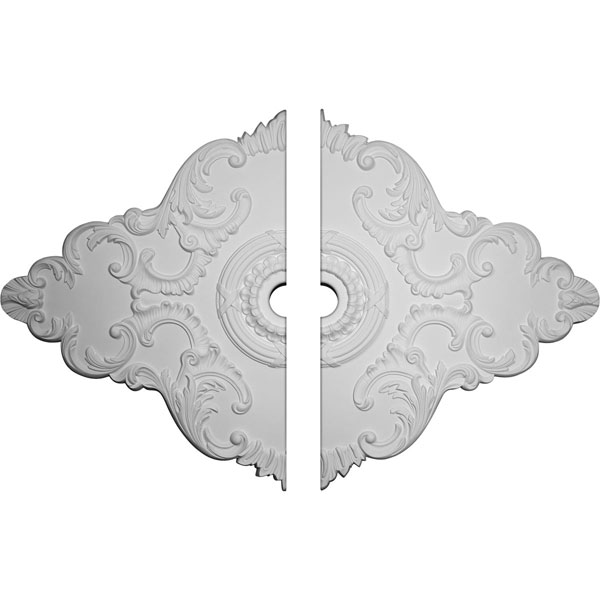 "67 1/8""W x 48 5/8""H x 6""ID x 1 7/8""P Piedmont Ceiling Medallion, Two Piece (Fits Canopies up to 6 1/2"")"
