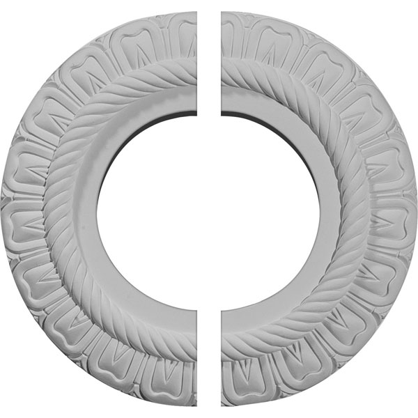 "9""OD x 4 1/2""ID x 1/2""P Claremont Ceiling Medallion, Two Piece (Fits Canopies up to 5 5/8"")"