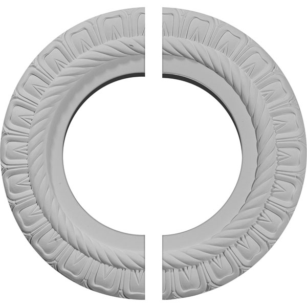 "10 5/8""OD x 5 3/4""ID x 1/2""P Claremont Ceiling Medallion, Two Piece (Fits Canopies up to 7"")"