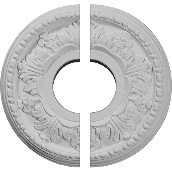 "11 7/8""OD x 3 5/8""ID x 7/8""P Helene Ceiling Medallion, Two Piece (Fits Canopies up to 5 1/4"")"