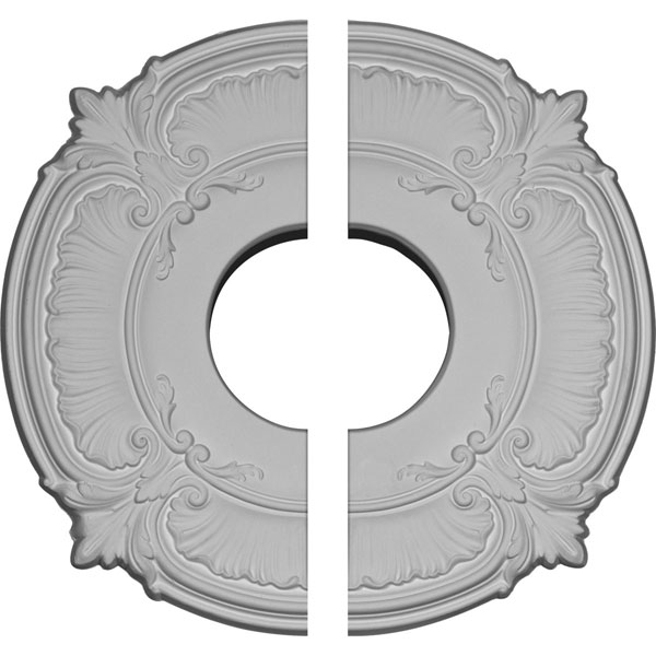 "12 3/4""OD x 3 1/2""ID x 1/2""P Attica Ceiling Medallion, Two Piece (Fits Canopies up to 3 1/2"")"
