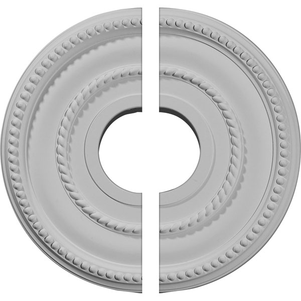 "12 1/8""OD x 3 5/8""ID x 3/4""P Valeriano Ceiling Medallion, Two Piece (Fits Canopies up to 6 1/4"")"