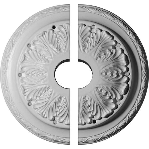 "13 3/4""OD x 2 3/4""ID x 3""P Asa Ceiling Medallion, Two Piece (Fits Canopies up to 4 1/2"")"