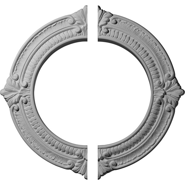 "13 1/8""OD x 8""ID x 5/8""P Benson Ceiling Medallion, Two Piece (Fits Canopies up to 8"")"