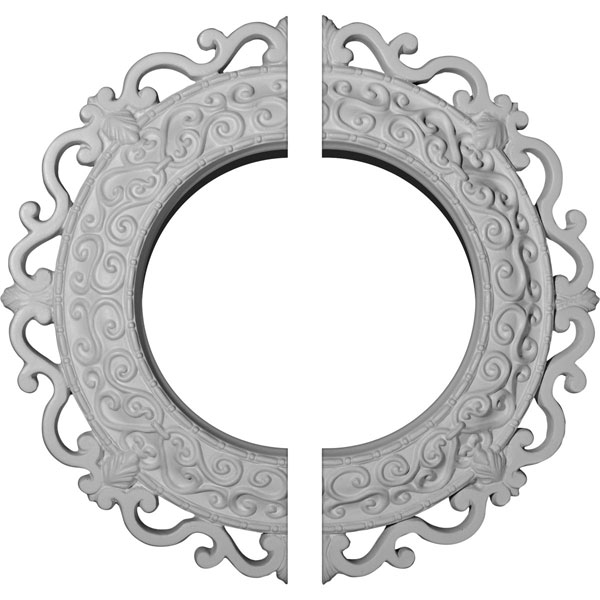 "13 1/4""OD x 6 5/8""ID x 1 1/8""P Orrington Ceiling Medallion, Two Piece (Fits Canopies up to 6 5/8"")"