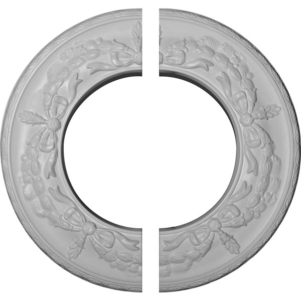"13 1/4""OD x 7 1/8""ID x 7/8""P Salem Ceiling Medallion, Two Piece (Fits Canopies up to 7 1/8"")"