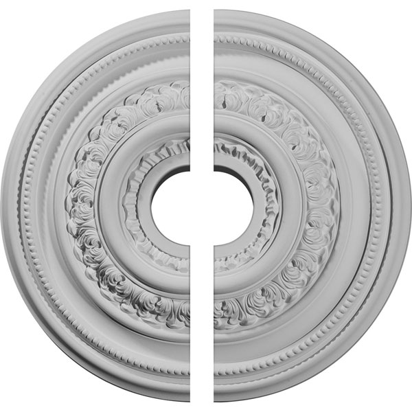 "17 5/8""OD X 3 5/8""ID X 1 7/8""P Orleans Ceiling Medallion, Two Piece (Fits Canopies up to 4 5/8"")"