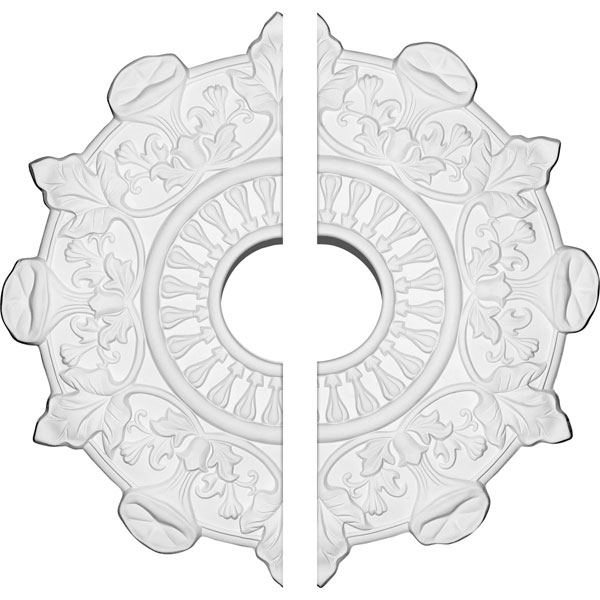 "17 1/2""OD x 4""ID x 1""P Preston Ceiling Medallion, Two Piece (Fits Canopies up to 4"")"