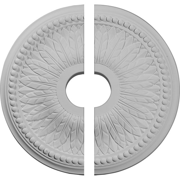 "18""OD x 3 3/4""ID x 1 1/2""P Bailey Ceiling Medallion, Two Piece (Fits Canopies up to 5 3/4"")"