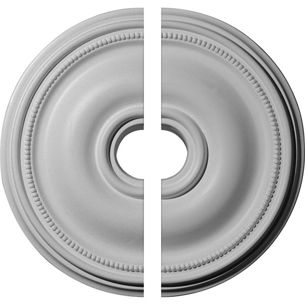 "18 1/8""OD x 3 3/4""ID x 1 1/8""P Bradford Ceiling Medallion, Two Piece (Fits Canopies up to 4 3/8"")"