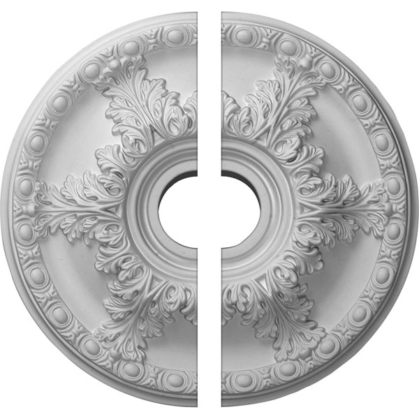 "18""OD x 3 1/2""ID x 2 1/2""P Granada Ceiling Medallion, Two Piece (Fits Canopies up to 6 5/8"")"