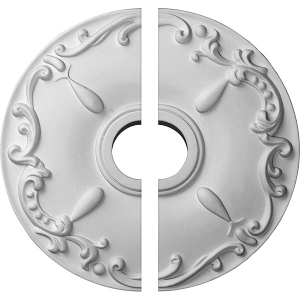 "18""OD x 3 1/2""ID x 1 1/4""P Kent Ceiling Medallion, Two Piece (Fits Canopies up to 5"")"