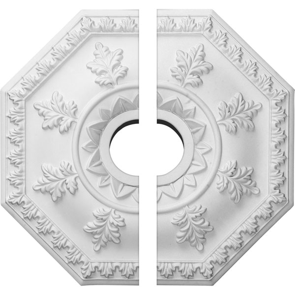 "18""OD x 3 1/2""ID x 1 1/2""P Nottingham Ceiling Medallion, Two Piece (Fits Canopies up to 4 5/8"")"