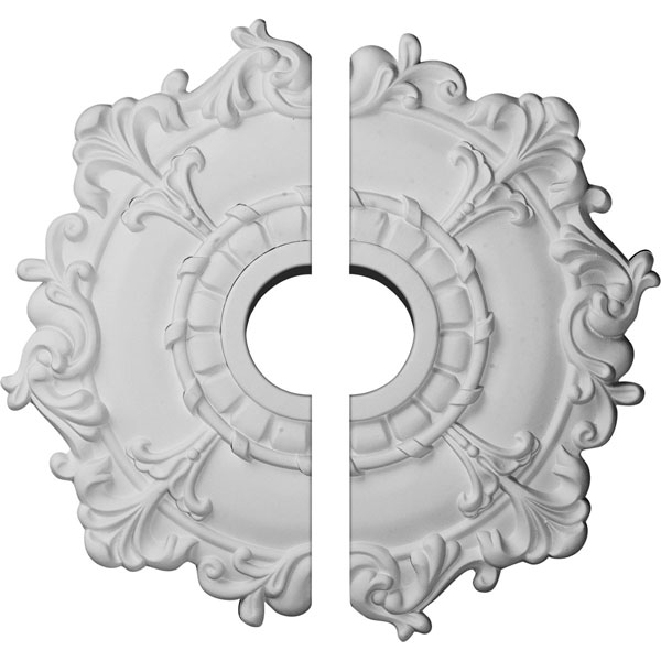 "18""OD x 3 1/2""ID x 1 1/2""P Riley Ceiling Medallion, Two Piece (Fits Canopies up to 4 5/8"")"
