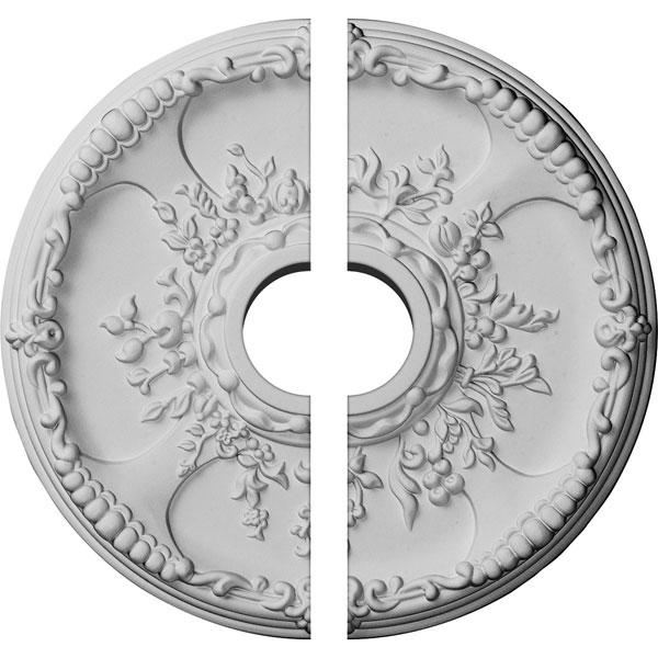 "18""OD x 3 1/2""ID x 1 3/8""P Antioch Ceiling Medallion, Two Piece (Fits Canopies up to 3 1/2"")"