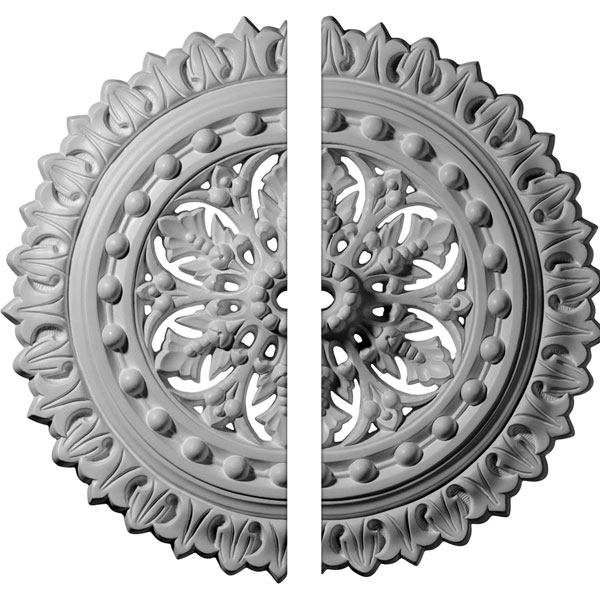 "18 1/2""OD x 7/8""ID x 1 1/2""P Sellek Ceiling Medallion, Two Piece (Fits Canopies up to 1 1/8"")"