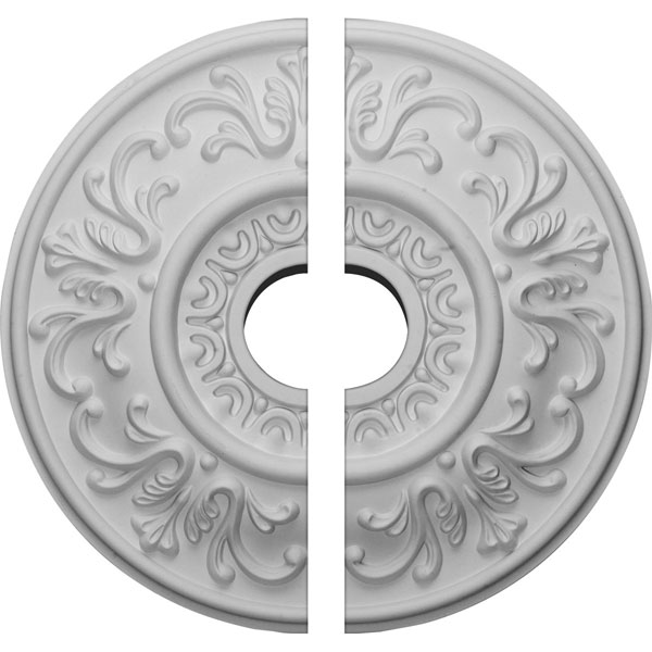 "18""OD x 3 1/2""ID x 1""P Valletta Ceiling Medallion, Two Piece (Fits Canopies up to 3 1/2"")"