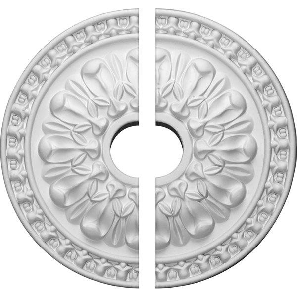 "18""OD x 3 1/2""ID x 1 3/8""P Warsaw Ceiling Medallion, Two Piece (Fits Canopies up to 3 1/2"")"