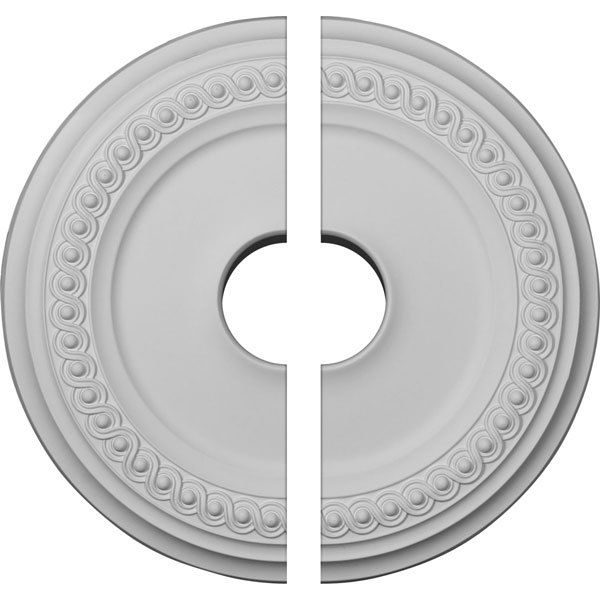 "18 5/8""OD 4""ID x 1 1/8""P Classic Ceiling Medallion, Two Piece (Fits Canopies up to 12 3/4"")"