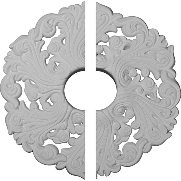"19 5/8""OD x 4 3/4""ID x 1 3/4""P Orrington Ceiling Medallion, Two Piece (Fits Canopies up to 4 3/4"")"
