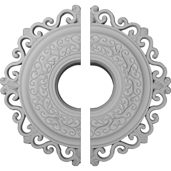 "22""OD x 6 1/4""ID x 1 3/4""P Orrington Ceiling Medallion, Two Piece (Fits Canopies up to 6 1/4"")"