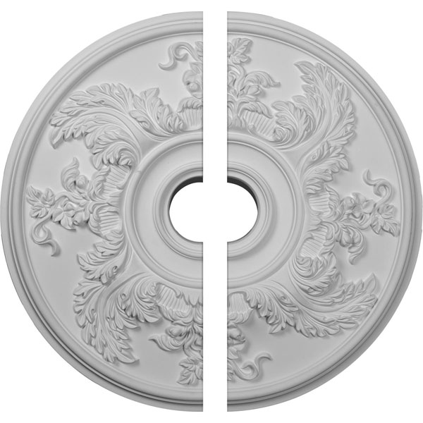 """23 5/8""""OD x 4 5/8""""ID x 1 7/8""""P Acanthus Twist Ceiling Medallion, Two Piece (Fits Canopies up to 8 3/8"""")"""