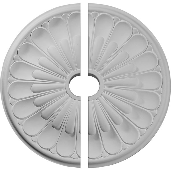 "26 3/4""OD x 3 5/8""ID x 1 3/8""P Elsinore Ceiling Medallion, Two Piece (Fits Canopies up to 3 5/8"")"