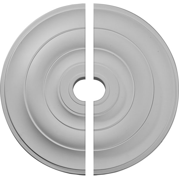 """26 1/2""""OD x 3 5/8""""ID x 1 1/2""""P Jefferson Ceiling Medallion, Two Piece (Fits Canopies up to 5"""")"""