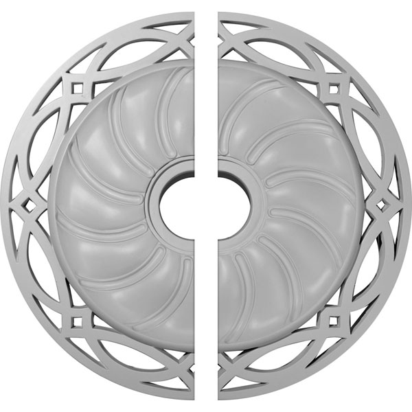 """26 5/8""""OD x 4 1/2""""ID x 1 3/8""""P Loera Ceiling Medallion, Two Piece (Fits Canopies up to 6 1/4"""")"""