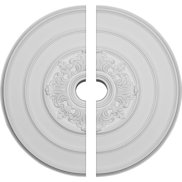"""26""""OD x 3 1/8""""ID x 1 1/2""""P Traditional with Acanthus Leaves Ceiling Medallion, Two Piece (Fits Canopies up to 4 1/4"""")"""