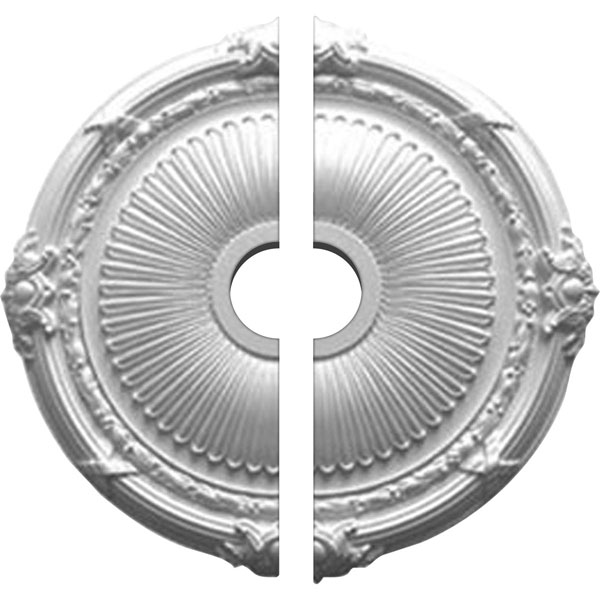 """27 1/2""""OD x 3 7/8""""ID x 2 1/4""""P Heaton Ceiling Medallion, Two Piece (Fits Canopies up to 6 1/2"""")"""