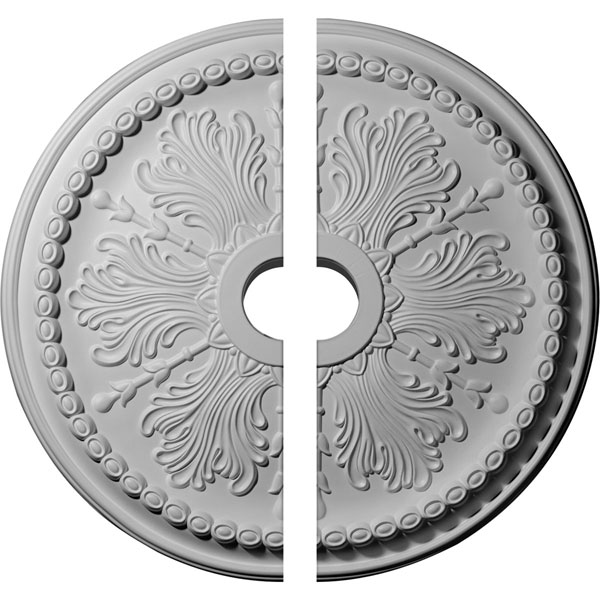 "27 1/2""OD x 4""ID x 1 1/2""P Winsor Ceiling Medallion, Two Piece (Fits Canopies up to 4"")"