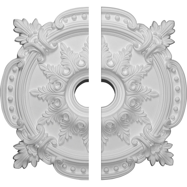 "28 3/8""OD x 4 1/2""ID x 1 5/8""P Benson Classic Ceiling Medallion, Two Piece (Fits Canopies up to 6 1/2"")"