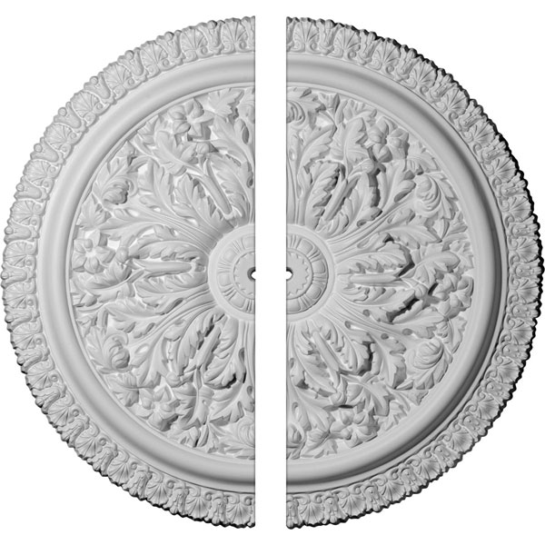 "28 3/4""OD x 7/8""ID x 1 7/8""P Nicole Ceiling Medallion, Two Piece (Fits Canopies up to 5 3/4"")"