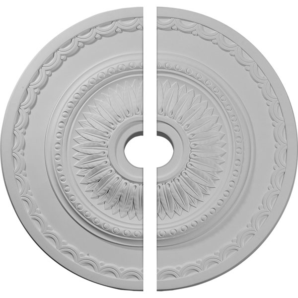 "29 1/2""OD x 3 5/8""ID x 1 5/8""P Sunflower Ceiling Medallion, Two Piece (Fits Canopies up to 5 5/8"")"