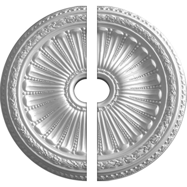"35 1/8""OD x 4 7/8""ID x 2 1/2""P Viceroy Ceiling Medallion, Two Piece (Fits Canopies up to 4 7/8"")"