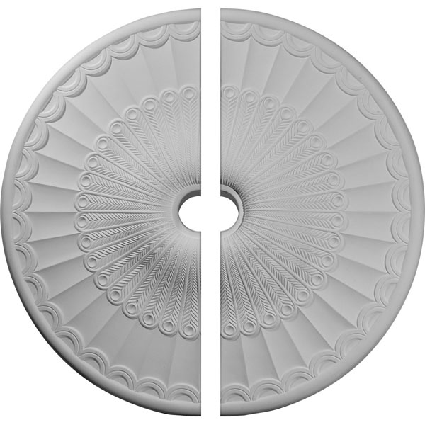"36 5/8""OD x 3 5/8""ID x 2 3/8""P Galveston Ceiling Medallion, Two Piece (Fits Canopies up to 4 3/4"")"