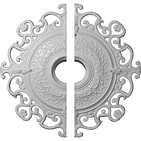 "38 3/8""OD x 6 5/8""ID x 2 7/8""P Orleans Ceiling Medallion, Two Piece (Fits Canopies up to 8 1/4"")"