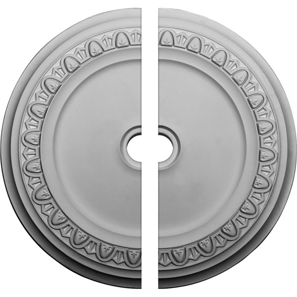 "41""OD x 4""ID x 2 3/8""P Caputo Ceiling Medallion, Two Piece (Fits Canopies up to 5 1/2"")"