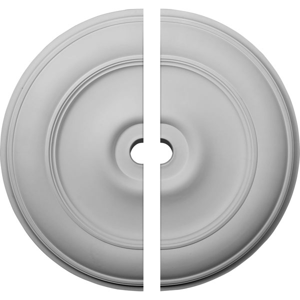 "44 1/2""OD x 4""ID x 4 ""P Classic Ceiling Medallion, Two Piece (Fits Canopies up to 8 1/4"")"