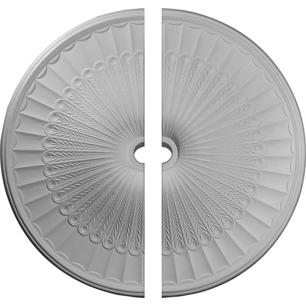 "51""OD x 3 5/8""ID x 3 3/8""P Galveston Ceiling Medallion, Two Piece (Fits Canopies up to 5 7/8"")"