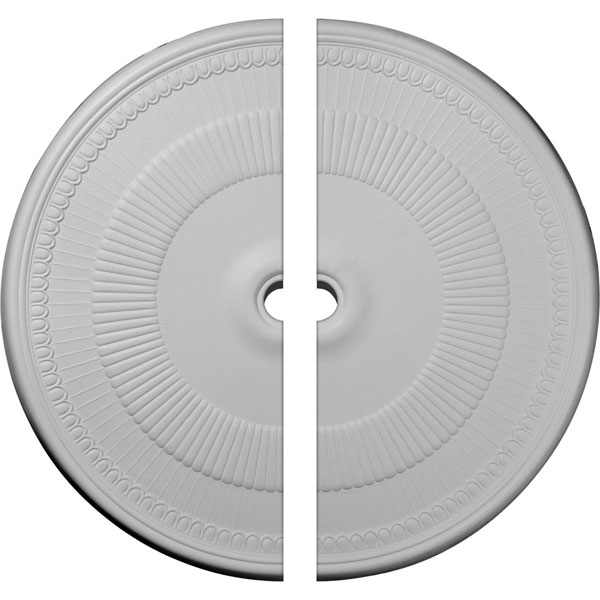 "51 1/8""OD x 3 5/8""ID x 1 1/2""P Nevio Ceiling Medallion, Two Piece (Fits Canopies up to 4 3/4"")"