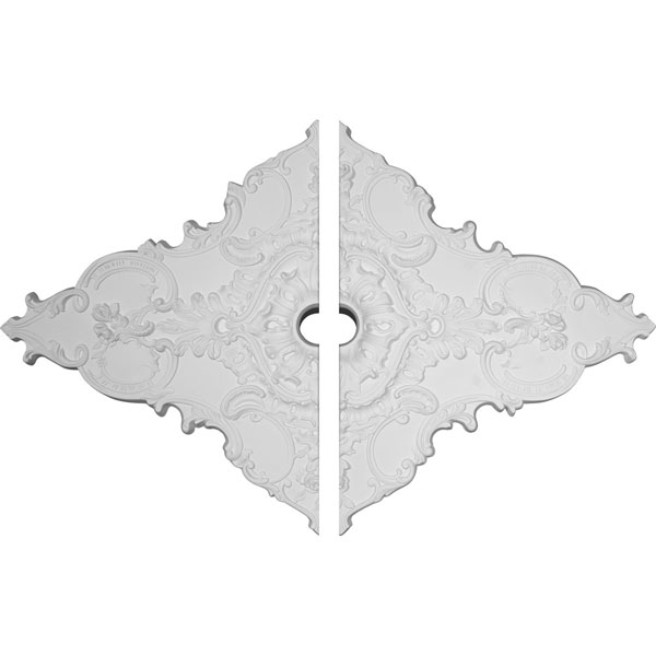 "67 1/4""W x 43 3/8""H x 4""ID x 2""P Melchor Diamond Ceiling Medallion, Two Piece (Fits Canopies up to 4"")"